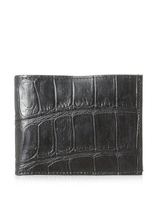 55% OFF Joseph Abboud Men's Croc Embossed Leather Passcase (Black)