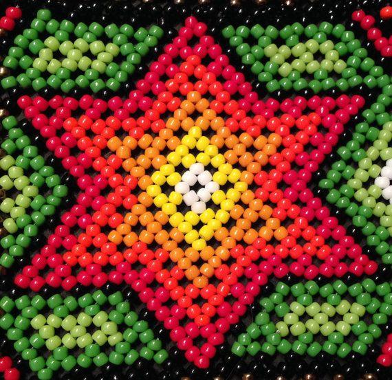 Stars huichol bracelet pattern por Vixenscraft en Etsy