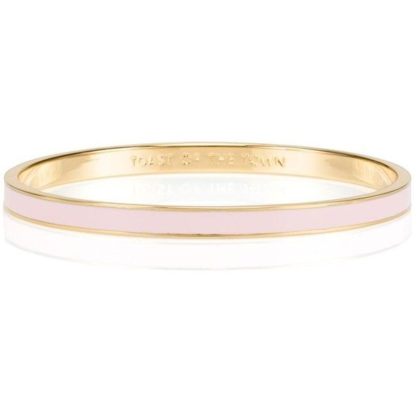 Kate Spade Friendship Idiom Bangles (Set Of Three) (£80) ❤ liked on Polyvore featuring jewelry, bracelets, kate spade jewelry, bangle jewelry, hinged bangle, friendship bracelet and hinged bracelet