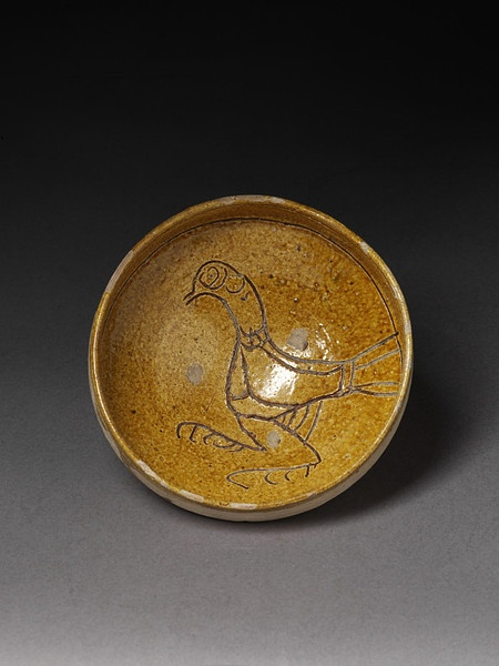 Earthenware bowl made in the Crimean peninsula of Ukraine in the 12th or 13th century.