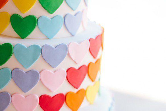 Rainbow Love | A Sweet Rainbow-Heart Birthday Party | POPSUGAR Moms