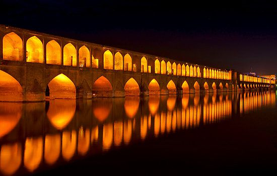 The great monuments of Isfahan, the Si-o-Seh Pol was built under the great Shah Abbas I. Under his rule, from 1587-1629, the Persian empire became one of the most powerful in the world. visit >>  http://bit.ly/1ypg4KR