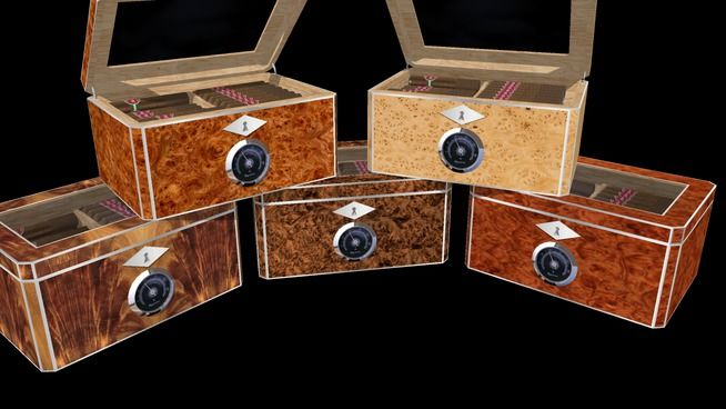 DIY Woodworking Ideas Set of five humidors from Red Hawk Specialties Plans