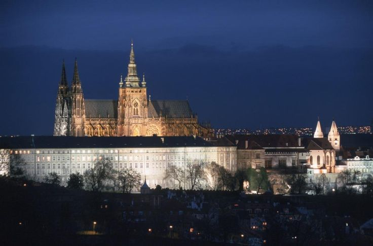 Prague Castle Complex at night. What a view!