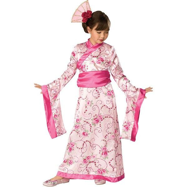 Child Pink Geisha Girl Costume