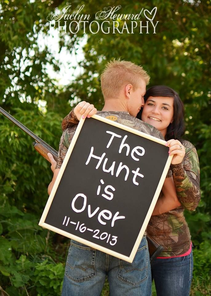The hunt is over. Hunting couple picture ideas Jaclyn Heward Photography