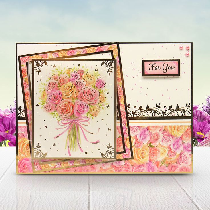 Card made using the 'Perfect Petals' topper set from the Butterfly Bouquet Collection