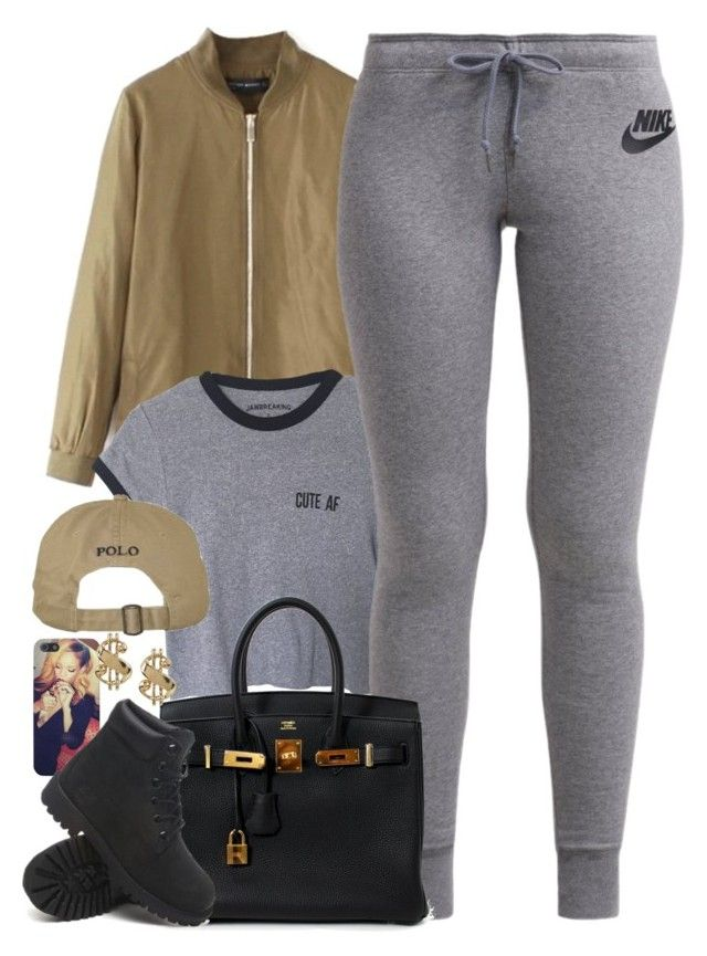 """Untitled #1503"" by power-beauty ❤ liked on Polyvore featuring NIKE, Hermès and Timberland"