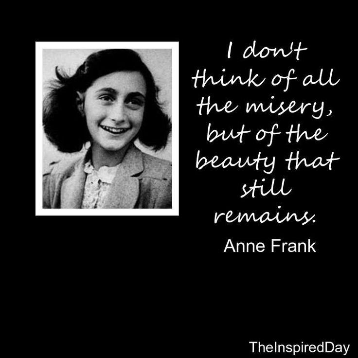 Anne Frank quote, joy