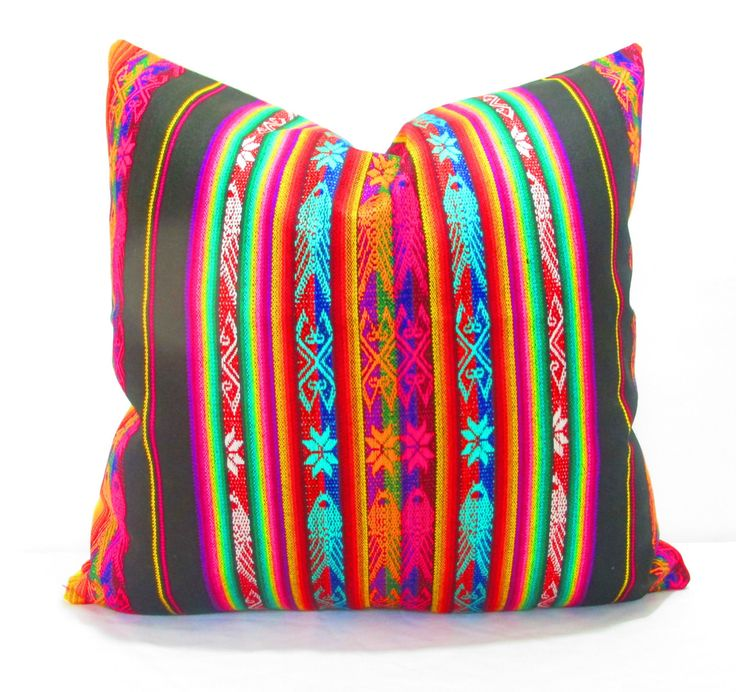 Mexican Pillow Cover 20 Inch Tribal Pillows Aztec Home Decor Available In 4 Colors