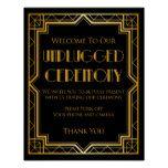 Unplugged Wedding Gatsby - Custom Color Poster #weddinginspiration #wedding #weddinginvitions #weddingideas #bride