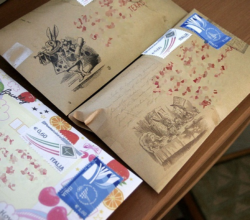 Snail-mail packages -- the best.