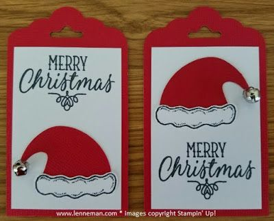 Jolly Friends Hang Your Stocking Tags- Dena Lenneman, Stampin' Up! Demonstrator