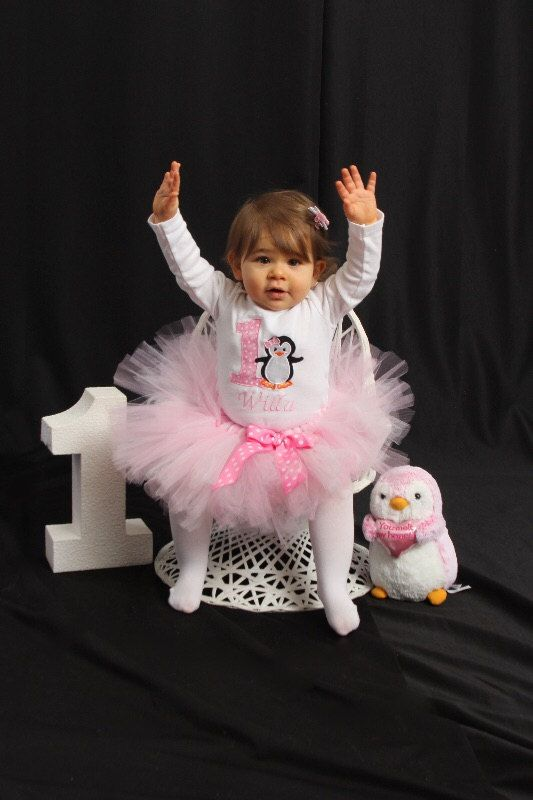 Penguin Tutu Outfit, 1st Birthday Tutu Outfit, Winter ONEderland Birthday