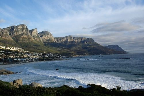 Overlooking the beaches of Cape Town, South Africa.