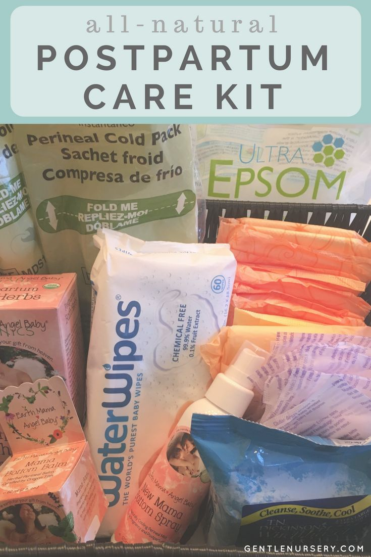 Postpartum Care Kit for New Moms. Find a complete list of everything you need for postpartum self-care, including all-natural alternatives.  via @gentlenursery