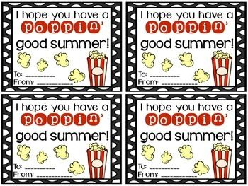 Fun, inexpensive, and simple gifts for your students at the end of the year! Please be kind and leave feedback if you download.