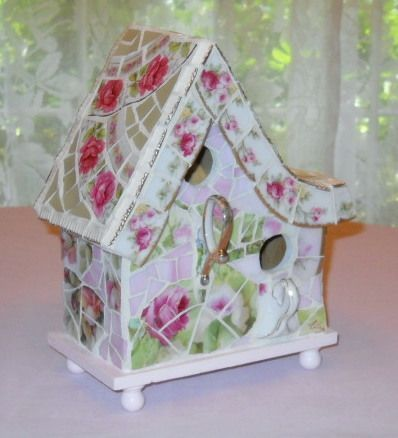 2-Family Mosaic Bird House