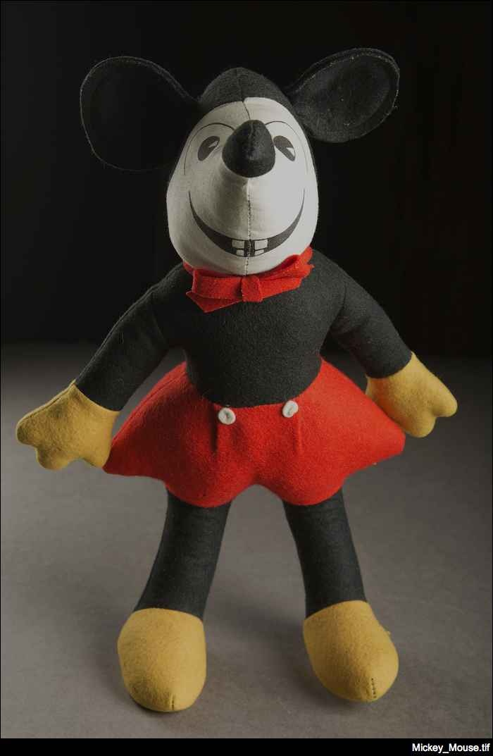 Mickey Mouse dolls have been produced for over eighty years, making them hard to date. However this example from the State Library's Children's Literature Research Collection was purchased in 1945 for a former staff member, who cared for him lovingly!