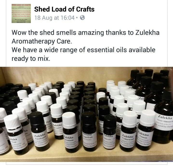 Love seeing our products on a shop shelf! #essentialoils #enfield #shedloadofcrafts #natural #supportasmallbusiness