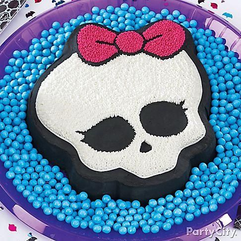 Here's a cake with killer-cute style! Make sure to click to get all the details to make this skullette cake!