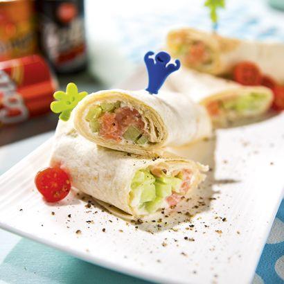 ALDI België - Recept - Wrap met gerookte zalm en verse kaas