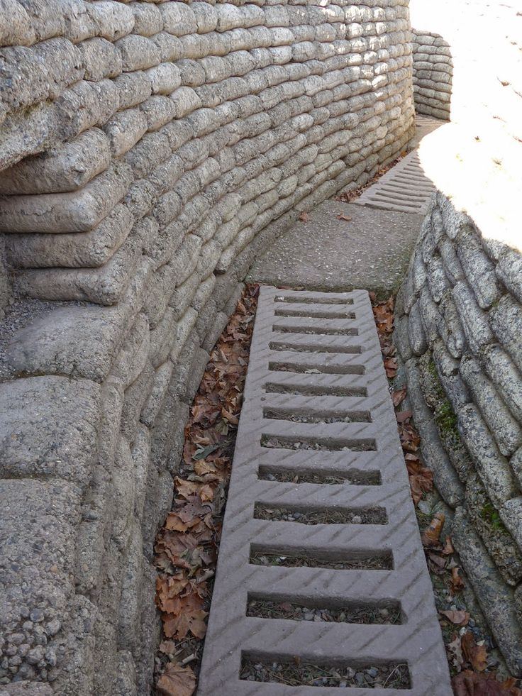 Vimy Ridge, National Historic Site of Canada, Northern France. Trench.