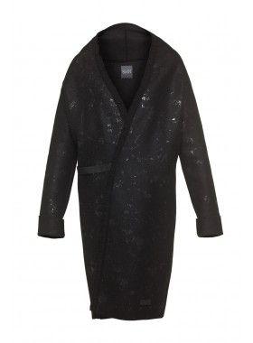 8 MN Black Boiled Wool Coat. Buy @ http://thehubmarketplace.com/Black-Boiled-Wool-Coat