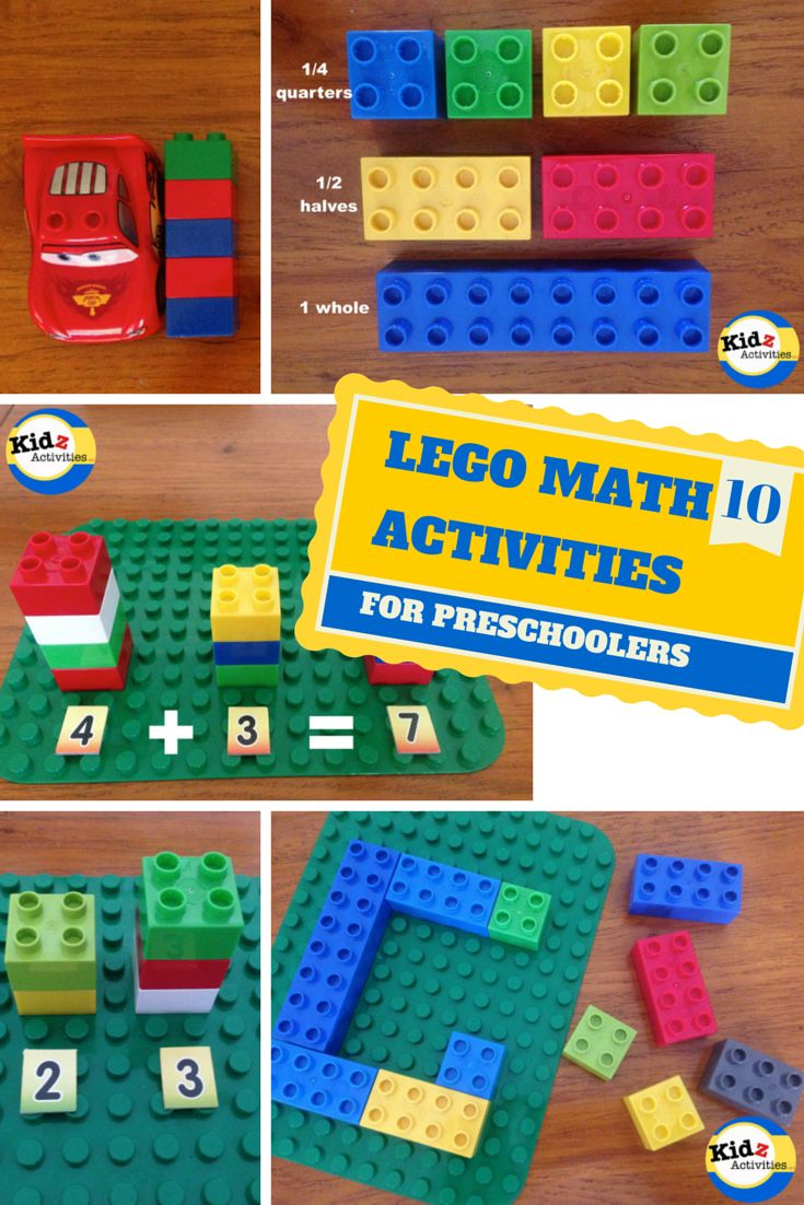 10 LEGO MATH Activities for Preschoolers by Kidz Activities