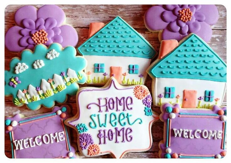 Welcome new neighbor cookies by Sweet Surprise Cookies