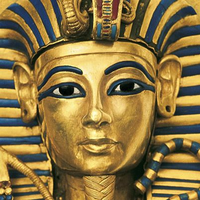 """Who knew King Tut's name wasn't Tut!? I sure didn't. This is Tutankhamun which means """"the living image of Aten.""""  King Tut was in power from age 9 when is father Akhenaten died in 1361 B.C.E. to 1352 B.C.E. when he died at  18; never to be heard of again until 1922 when his tomb was discovered. It was common to inbreed in Egypt so in his first year of power he married Ikhanaton and Nefertiti's daughter Ankhesenamun. Together they had two daughters who were stillborn."""