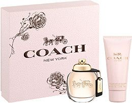 Experience the scent inspired by the spontaneous energy and downtown style of New York City with the COACH Eau de Parfum Gift Set including a 1.7 oz. Eau de Parfum Spray and 3.3 oz. Body Lotion. A $107 Value!