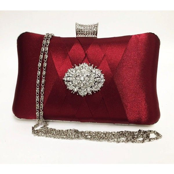 wedding clutch, formal clutch, Red maroon clutch, evening bag,... ($65) ❤ liked on Polyvore featuring bags, handbags, clutches, crystal evening bags, formal purse, red handbags, red clutches and crystal handbag