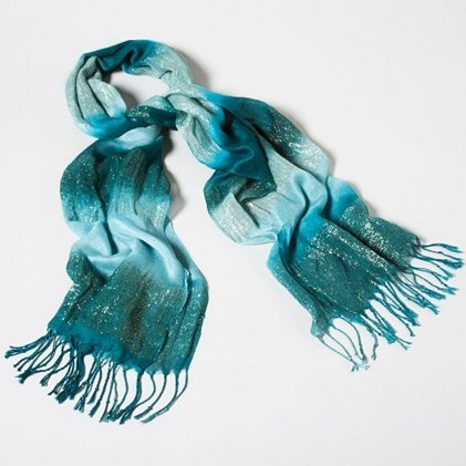 Stream Of Consciousness Scarf | Claire'sCat, Cute Scarf, Blue Scarves, Style, Favorite Colors, Blue Sparkly, Accessories, Conscious Scarf, Blue Scarf