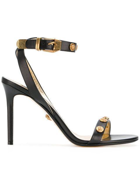 6496c4ef7ef Versace Embellished Medusa Sandals - Farfetch