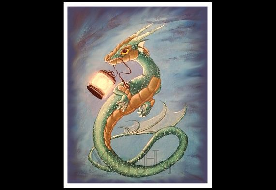 Sea Dragon, Dragon Print, Dragon Painting, dragon art, original Art, Art Print, fantasy art,fantasy print,fantasy poster, poster,mary hoy
