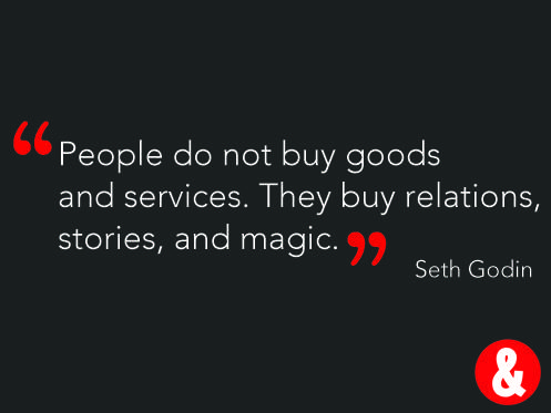 This quote really does apply to a Retail brand. It's not only about the product and service, it's about the brand.