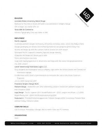 37 best Resume \ Portfolio Design images on Pinterest Resume - standard resume