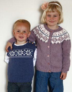 Trøje og slipover med stjernemønster | Familie Journal