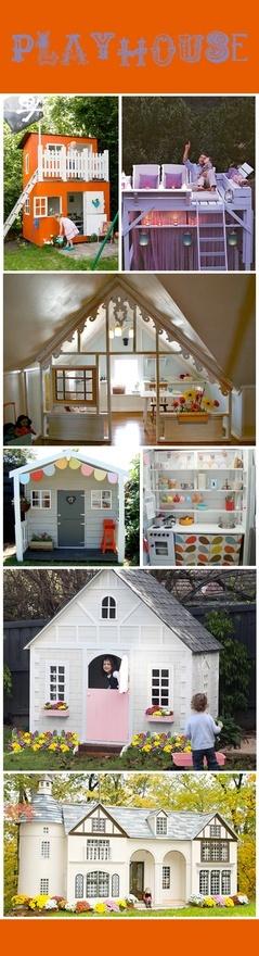 playhouses: Doors Droomkasteel, Playhouses Ideas, Ideas For, Awesome Playhouses, Kids Stuff, Plays Houses, Dreams Coming True, Pink Doors, Voor Speelhuisj