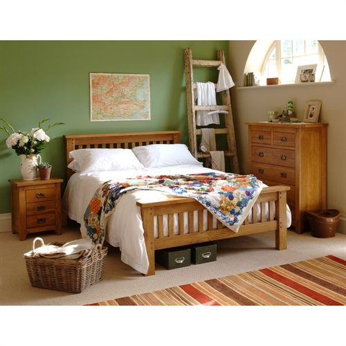Evesham Oak Double Bedroom Set (K255) with Free Delivery   The Cotswold Company