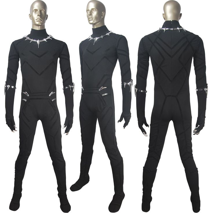 Black Panther Film 2018 T'Challa superhero cosplay halloween costume X'mas birthday Valentine's day gift make-up carnival outfit for adults