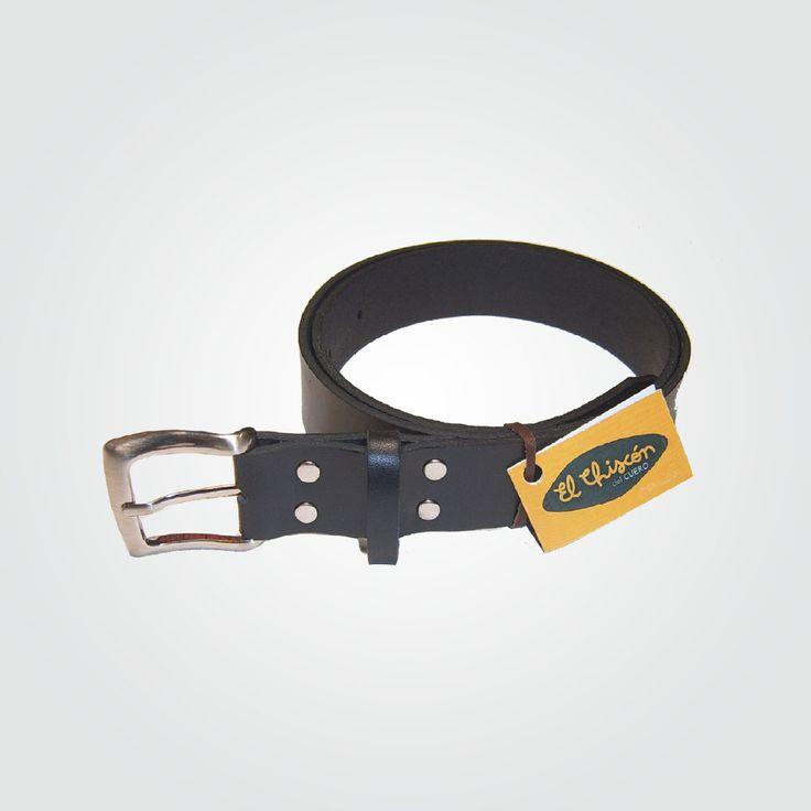 Cinturón 3 cm negro-níquel(EN STOCK)