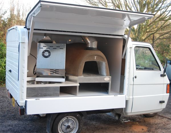 Our clients vsions and our expertise combined. A woodburning pizza oven in a van, mirrored walls, oak worktops, a fully equipped mobile bar. Take a look.                                                                                                                                                     More