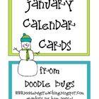 Enjoy this free set of calendar cards!    Visit my blog at  www.doodlebugsteaching.blogspot.com...