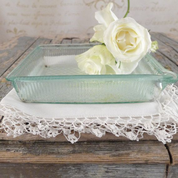 Small glass container, vintage, kitchen, shabby chic, container, Vintage Boxes, glass plate, pharmacy