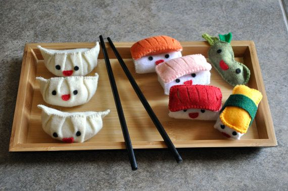 Sushi Plushies by JeLLures on Etsy, $40.00