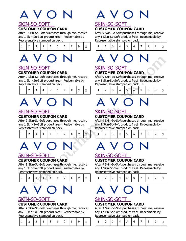 Avon Skin So Soft Coupon Card ...