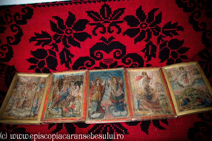 """Romanian Orthodox Church """"The Repose of the Holy Apostle and Evangelist John """" from Borlovenii Noi, Caraș-Severin County, Romania The Church was built in 1825. Romanian Orthodox Diocese of Caransebeș. Orthodox icons painted before 1750."""
