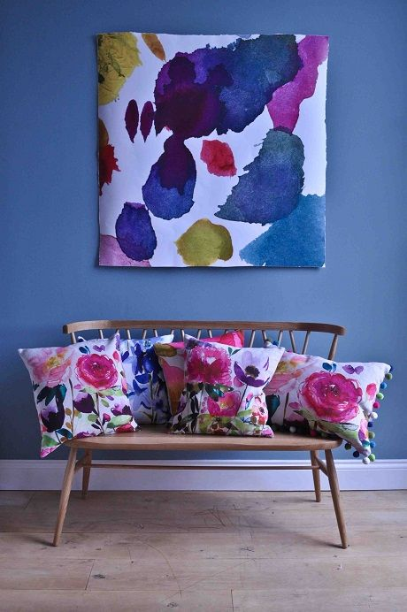 I seem to have been blogging about Bluebellgray for like ...years!   Every  time I create a moodboard or a shopping wish list those beautiful floral  cushions just seem to magically find a way in...    So when I met Fiona Douglas at Home London I was very excited to finally  talk to the talent